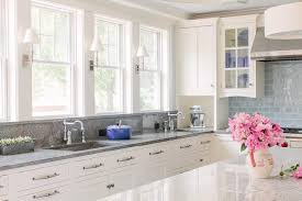 white shaker kitchen cabinets with granite countertops. Uncategorized, Wonderful White Shaker Kitchen Cabinets Also Gray Granite Countertops For Island Top: With R