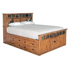 SD-2334RO-SQ - Sedona Rustic Petite Storage Bed - Queen Size