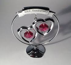 get ations 40th ruby wedding anniversary gift ideas with crystal