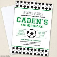 Soccer Party Invite Soccer Party Invitations Your Choice Of Color