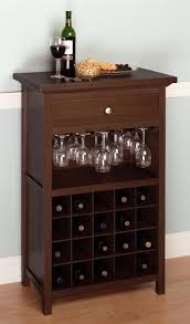 Kitchen Wine Rack 12 Bottles Wood Wine Rack Storage Cabinet Display 3 Tiers Shelves