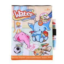 cartoon reusable doodle coloring book kid painting magic water drawing book peggy