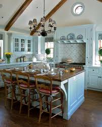 Pale Blue French Country Kitchen