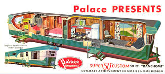 Single Wide 2 Bedroom Trailer This Palace Ranchome From 1956 57 Shows The Concept Remodeled