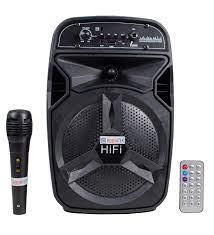 BT-06 Bluetoothlu Şarjlı Taşınabilir FM Radyolu Karaoke Müzik Sistemi