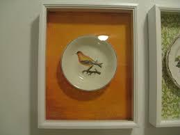framed plates wall art