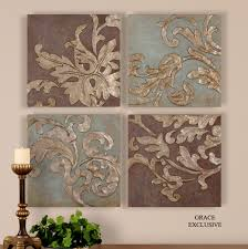 >uttermost damask relief blocks wall art set 4 over corner cabinet  uttermost damask relief blocks wall art set 4 over corner cabinet fam room or bookshelves