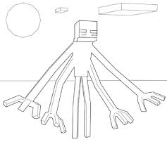 Minecraft Mutant Enderman Coloring Pages Coloring Pages For Kids