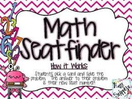 Sixth And I Seating Chart Math Seatfinder A Seating Chart Management Activity