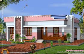 Simple Small Flat Roof Home Kerala Design Floor Plans