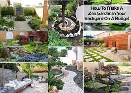 zen garden in your backyard on a budget