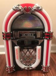 details about victrola retro desktop jukebox with cd player fm radio bluetooth and color ch