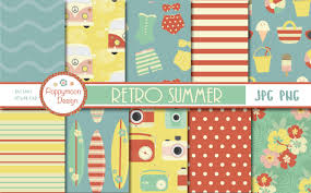 Choose from over a million free vectors, clipart graphics, vector art images, design templates, and illustrations created by artists worldwide! Retro Summer Paper Graphic By Poppymoondesign Creative Fabrica Cute Scrapbooks Retro Summer Vintage Colour Palette