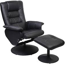 duncan reclining chair wottoman  black  the brick