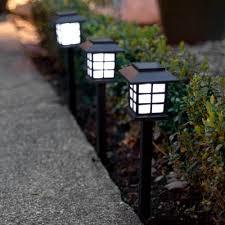 garden lights amazon. Set Of 6 White LED Solar Lantern Garden Stake Lights By Lights4fun Amazon O