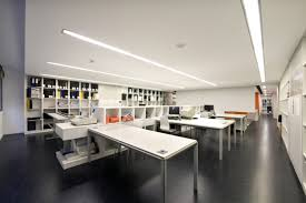office studio design. Home Design Simply Minimalist White Office Table Cubicle With Wall Unit Bookshelves And Storage Divider Black Studio Interior Futuristic