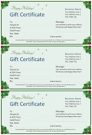 holiday template word christmas gift certificate for word