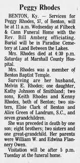 "Obit: Gertie Pearl ""Peggy"" Rhodes (nee Owen) - Newspapers.com"