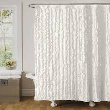 m elegant fabric shower curtains with valance gray floor two ceiling support mirror in grey bathroom stripped white curtain hanging pink rug on hardwood