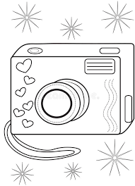 Small Picture Camera Coloring Page Stock Illustration Image 50696586