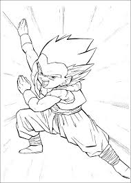 printable dragon ball z coloring pages vibrant design many interesting free kai