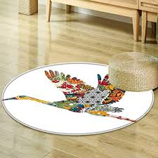 Designed Bedrooms Impressive Amazon Round Area Rug Carpet Animal Decor Big Bird Flying
