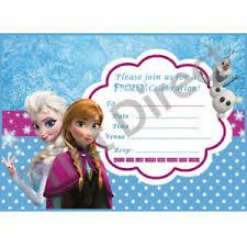 Frozen Birthday Invitations Celebrations Occasions Cards Stationery 15 X Frozen
