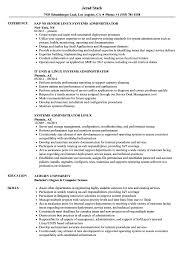 System Admin Resumes Systems Administrator Linux Resume Samples Velvet Jobs