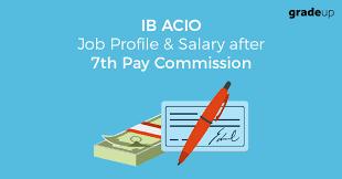 IB ACIO Job Profile & Salary after 7th Pay Commission