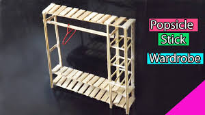 how to build miniature furniture. Popsicle Stick Crafts | DIY Miniature Furniture Easy Dolls Wardrobe For Kids How To Build