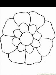 printable coloring page flower natural world
