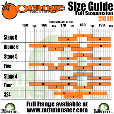 Trek Frame Size Chart Orange Bikes Size Guide What Size Frame Do I Need