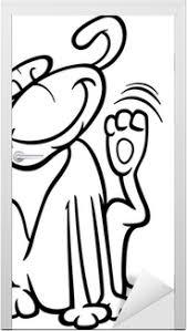 Canvas Hond Krabben Oor Kleurplaat Pixers We Leven Om Te Veranderen