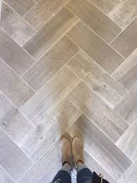 love wood tile in a herringbone pattern such a great look and so durable