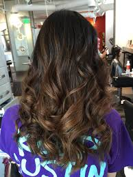 Asian Black Hair With Brown Balayage