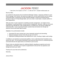 Trainee Cover Letters Best Branch Manager Trainee Cover Letter Examples Livecareer