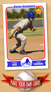 custom baseball cards baseball card maker make your own custom baseball cards with
