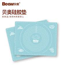 beow beow silicone mat bm 301 thickening anti slip mat with scale ruler kneading pad baking