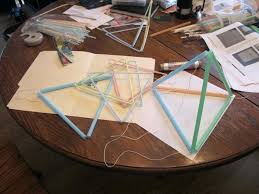 Tetrahedron Kite Template With Several Different Tetrahedral Kite ...