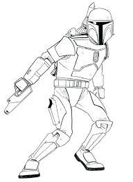Jango Fett Coloring Page Star Wars Coloring Pages Best Printable