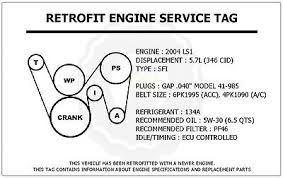 ls l gto retrofit engine service tag belt routing diagram you re almost done