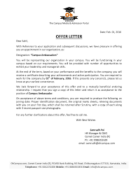 Offer Letter Extraordinary Offer Letter Sahil SITMPune