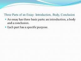 paragraph essay introduction body paragraph body paragraph  three parts of an essay introduction body conclusion