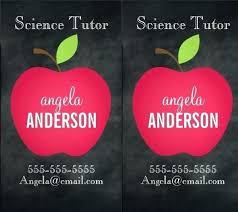 Teacher Business Cards Templates Free Apple Business Card Template Classic Red Chalkboard Teacher