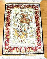 hunting area rugs fine silk rug x handmade signed wildlife pictorial art hand cabin medium size of lodge a