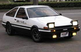 The 50 Coolest Movie Cars Ae86 Toyota Corolla Corolla Ae86