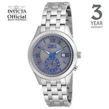 invicta specialty men 40mm case silver stainless steel strap white dial quartz watch 18100 intl