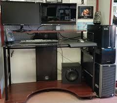 lovable custom desk also gaming battlestation via reddit user karmicviolence gaming computer desk plans home furniture