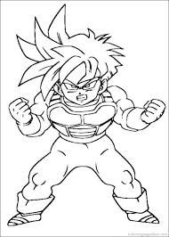 Small Picture Dragon Ball Z Coloring Pages 49 Places to Visit Pinterest
