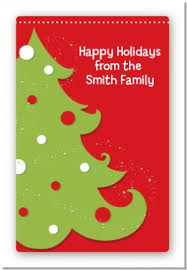 Christmas Tree Labels Christmas Tree Custom Large Rectangle Christmas Sticker Labels